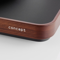 concept MC dark wood with Satisfy Kardan tonearm